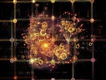 Visualizzazione della rete Fotografia Stock