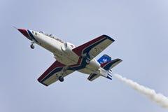 Visualizzazione della squadra di acrobazie aeree a airshow fotografia stock