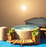 Visualizzazione della vasca calda Fotografia Stock