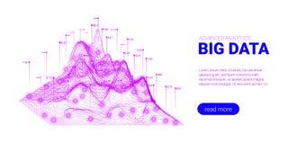 Visualizzazione di analisi di Big Data Pagina di atterraggio illustrazione di stock