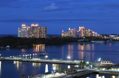 Visualizzazione di Atlantide da porto di Nassau Fotografia Stock Libera da Diritti