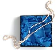 Visualizzazione di bella collana della perla fotografia stock libera da diritti