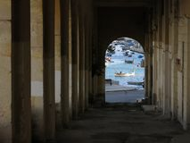 Visualizzazione di porto di La Valletta fotografia stock libera da diritti