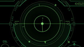 visualizzazione di tecnologia del segnale di GPS del radar 4k, navigazione del computer di dati di fantascienza di scienza illustrazione vettoriale