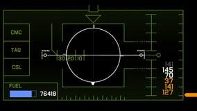 visualizzazione di tecnologia del segnale di GPS del radar 4k, navigazione del computer di dati di fantascienza di scienza stock footage