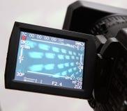 Visualizzazione di una videocamera portatile piena di HD Immagine Stock
