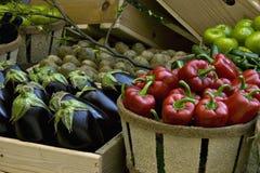 Visualizzazione di verdure del mercato Fotografie Stock