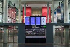 Visualizzazione di volo dell'aeroporto di Zurigo Fotografia Stock