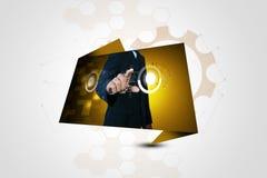 Visualizzazione futuristica del touch screen Fotografie Stock Libere da Diritti