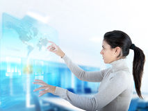 Visualizzazione moderna dello schermo attivabile al tatto Immagine Stock Libera da Diritti