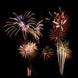 Visualizzazione Multi-colored del fuoco d'artificio Fotografia Stock Libera da Diritti