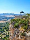 Visualizzazione panoramica di Ronda, piattaforma d'esame, Andalusia, Spagna fotografia stock