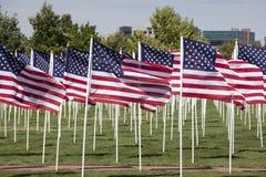 Visualizzazione patriottica della bandierina Fotografia Stock Libera da Diritti