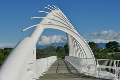 Visualizzazione a porta Taranaki da Waiwhakaiho fotografia stock libera da diritti