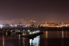 Visualizzazione romantica del porto di Pireo Fotografia Stock Libera da Diritti