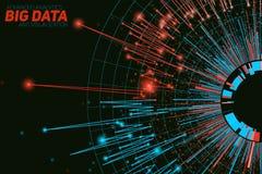Visualizzazione rotonda astratta di dati di vettore grande Progettazione futuristica di infographics Complessità visiva di inform illustrazione di stock