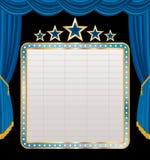 Visualizzazione sulla fase blu illustrazione di stock