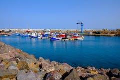 Visualizzazione sulla porta di Gran Tarajal a Fuerteventura, Spagna Pictur Immagini Stock Libere da Diritti