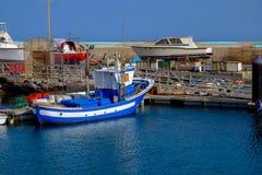 Visualizzazione sulla porta di Gran Tarajal a Fuerteventura, Spagna Pictur Fotografia Stock