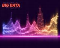 Visualizzazione variopinta astratta di dati di vettore grande Progettazione estetica di infographics futuristico Fotografie Stock Libere da Diritti