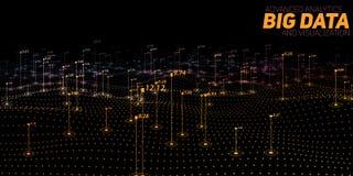 Visualizzazione variopinta di grandi dati Infographic futuristico Progettazione estetica di informazioni Complessità di dati visi illustrazione vettoriale