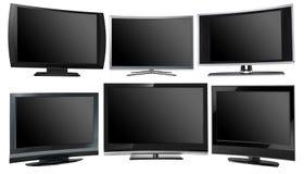 Visualizzazioni della TV, modelli differenti illustrazione di stock