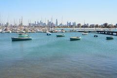 Visualizzazioni di porta Phillip Bay a in Australia - Melbourne Immagine Stock