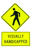 Visually Handicapped Sign Stock Photography