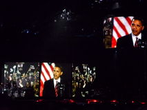 Visuals de Obama Fotografia de Stock Royalty Free