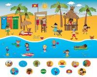Visueel spel stock illustratie