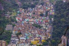 Visueel van de sleep van de heuvel zijn joao in copacabana stock foto
