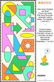 Visueel wiskunderaadsel - tellingsdriehoeken royalty-vrije illustratie