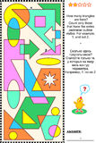 Visueel wiskunderaadsel - tellingsdriehoeken Royalty-vrije Stock Fotografie