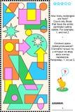Visueel wiskunderaadsel - tellingsrechthoeken vector illustratie