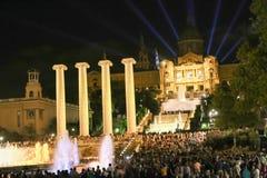 Visuel de nuit - Barcelone Photographie stock libre de droits