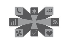 Visuele de pictogrammen van de Webtoepassing Royalty-vrije Stock Afbeelding