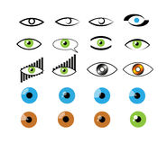 Visuele geplaatste logotypes stock illustratie