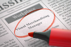 Visuele Verhandelende Manager Hiring Now 3d Royalty-vrije Stock Fotografie