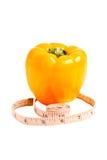 Visuell chimera av en blandning av tomaten och peppar Royaltyfri Foto