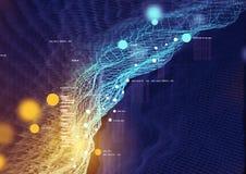 Visuell data och information royaltyfri illustrationer