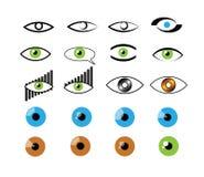 Visuell logouppsättning stock illustrationer