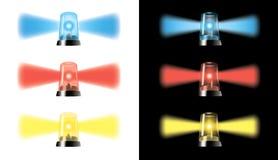 Visuella varningslampor - specialbilar signal - eps Royaltyfria Bilder