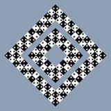 Visuellt bedrägeri - modern optisk illusion Rolig och omöjlig formgåta stock illustrationer