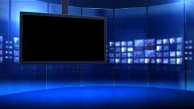 Visuellt hjälpmedelskärmar på uppsättning lager videofilmer