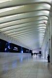 Visuellt perspektiv som skjutas av WTC-gångtunnelstation Arkivbild