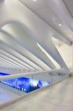 Visuellt perspektiv som skjutas av WTC-gångtunnelstation Arkivbilder