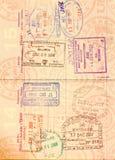 Visum im US-Paß Stockfotografie