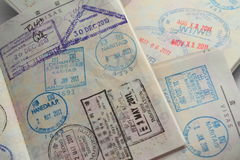 Visum på pass fotografering för bildbyråer