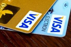 Visumkreditkortar Arkivfoton