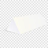 Vitåtlöje upp emballage för papptriangelask för mat, gåva eller andra produkter Vektorillustration på genomskinlig backgro Arkivfoto